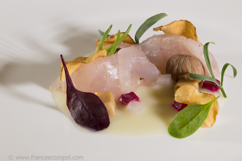 Castagna e castagne, radici topinambur e foie gras
