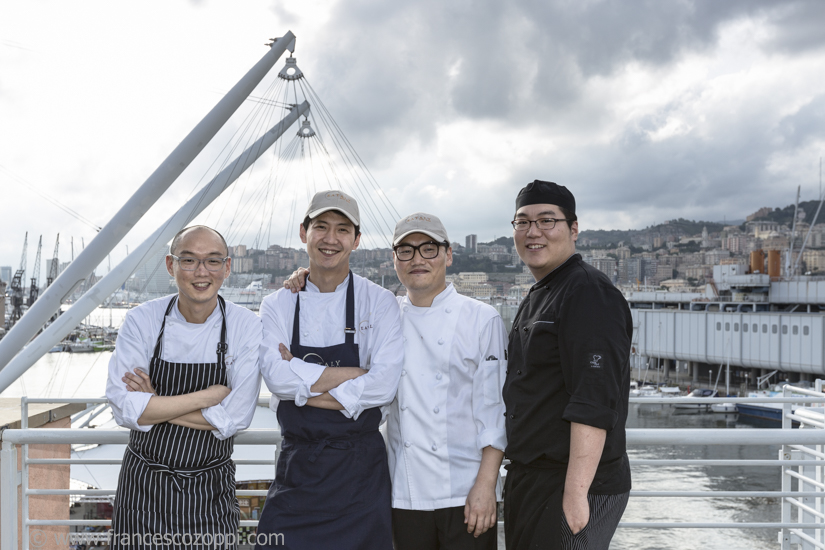 Korean chefs in Genoa