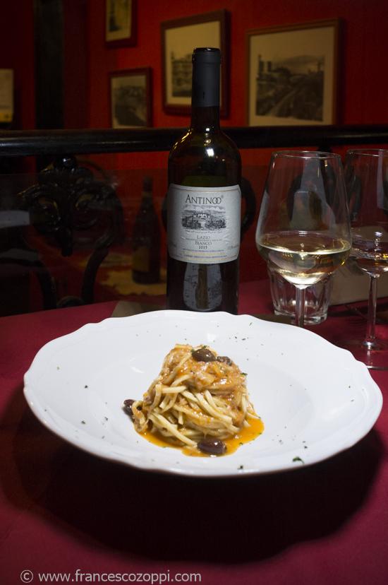 Taglierini al sugo di Stoccafisso combibe with Antinoo