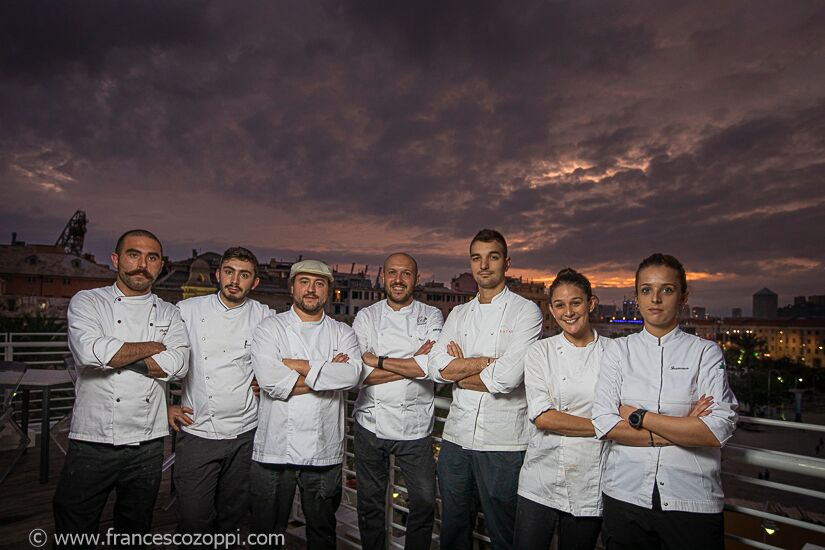 The Staff of the Marin restaurant